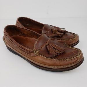 Cole Haan Mens Size 9.5 Brown Leather Slip On Shoe